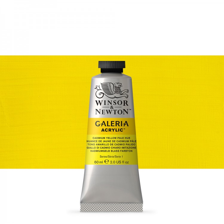 W&N : Galeria : Acrylic Paint : 60ml : Cadmium Yellow Pale Hue