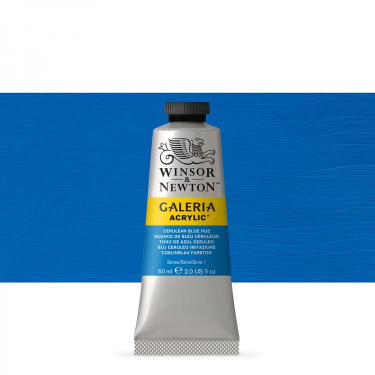 W&N : Galeria : Acrylic Paint : 60ml : Cerulean Blue Hue