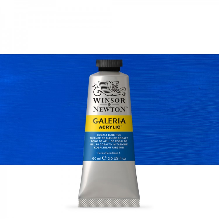 W&N : Galeria : Acrylic Paint : 60ml : Cobalt Blue Hue