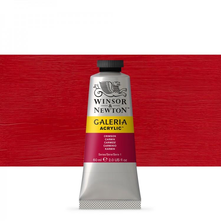 W&N : Galeria : Acrylic Paint : 60ml : Crimson