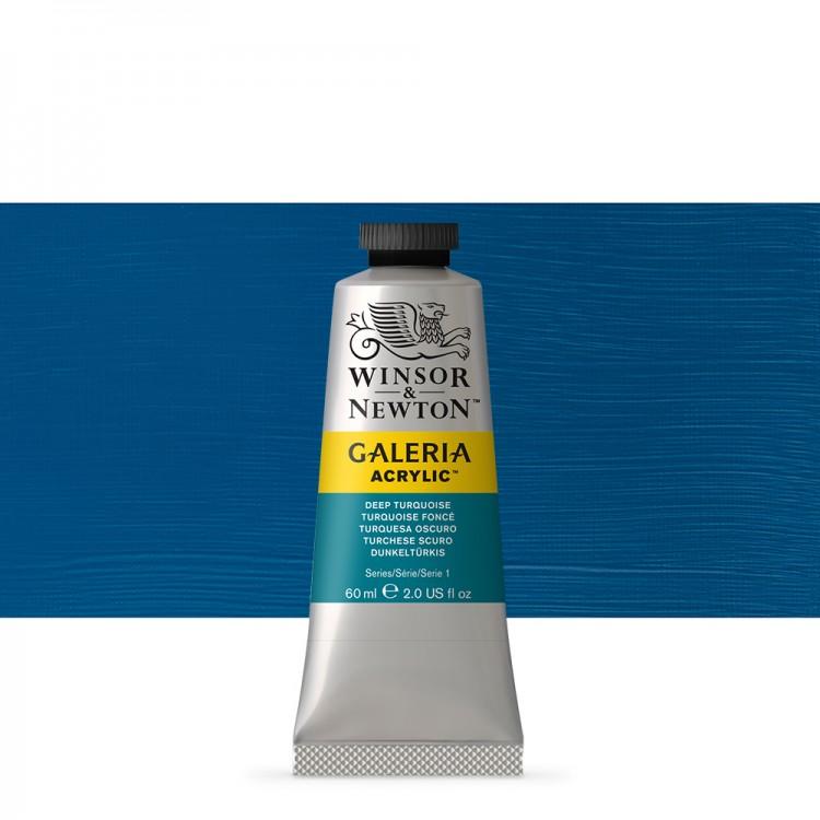 W&N : Galeria : Acrylic Paint : 60ml : Deep Turquoise