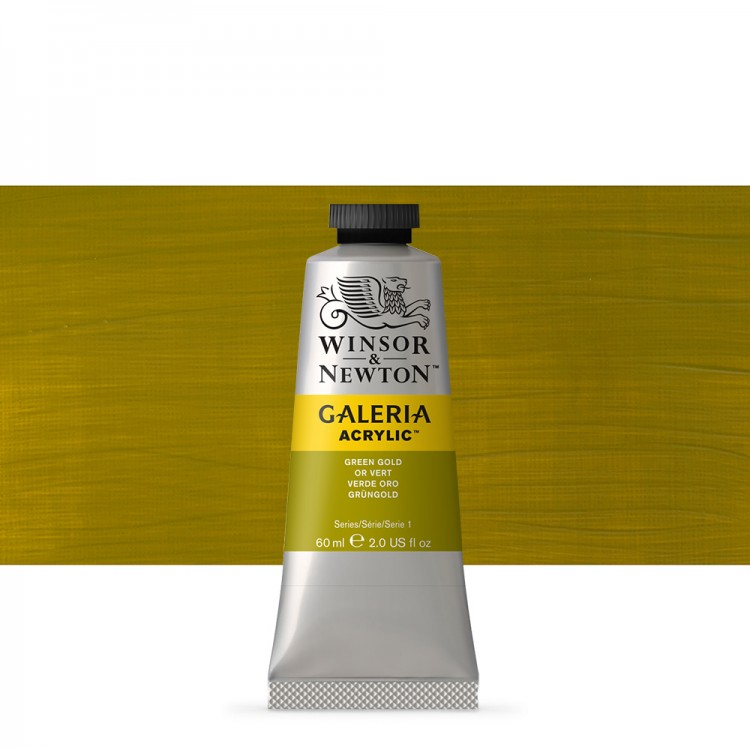W&N : Galeria : Acrylic Paint : 60ml : Green Gold