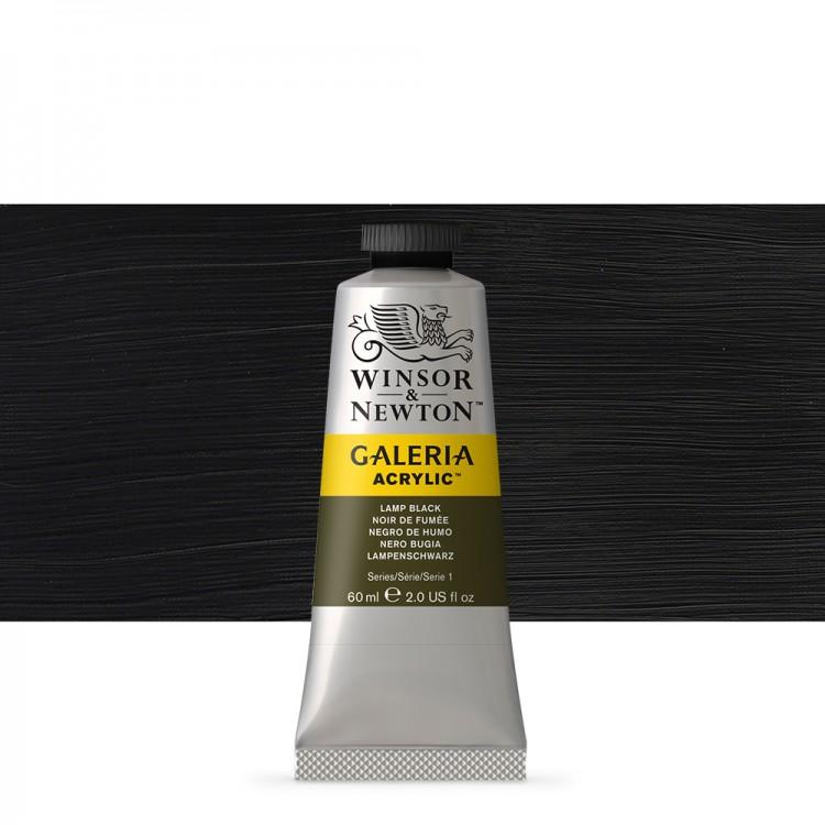W&N : Galeria : Acrylic Paint : 60ml : Lamp Black
