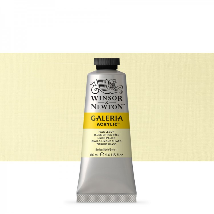 W&N : Galeria : Acrylic Paint : 60ml : Pale Lemon