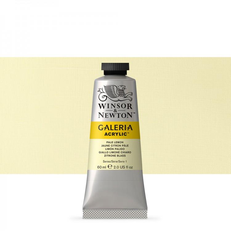 Winsor & Newton : Galeria : Acrylic Paint : 60ml : Pale Lemon