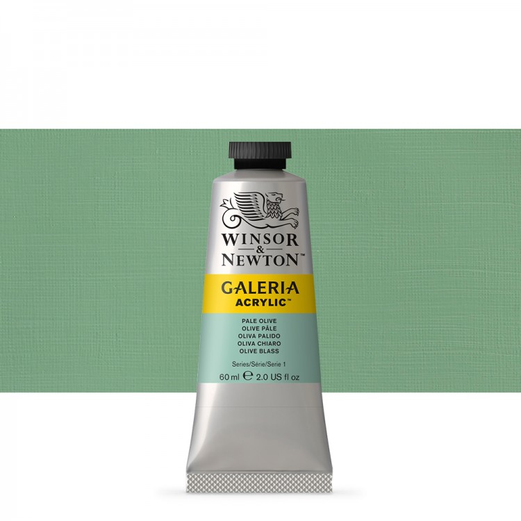 W&N : Galeria : Acrylic Paint : 60ml : Pale Olive
