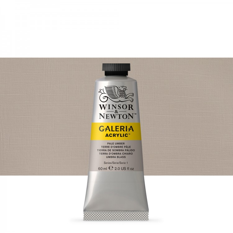 Winsor & Newton : Galeria : Acrylic Paint : 60ml : Pale Umber