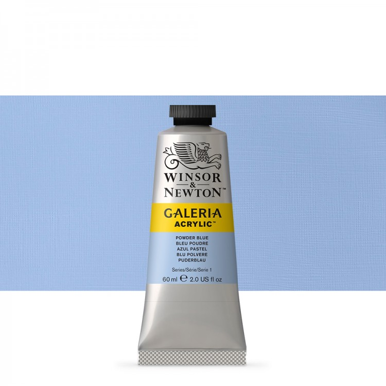 W&N : Galeria : Acrylic Paint : 60ml : Powder Blue