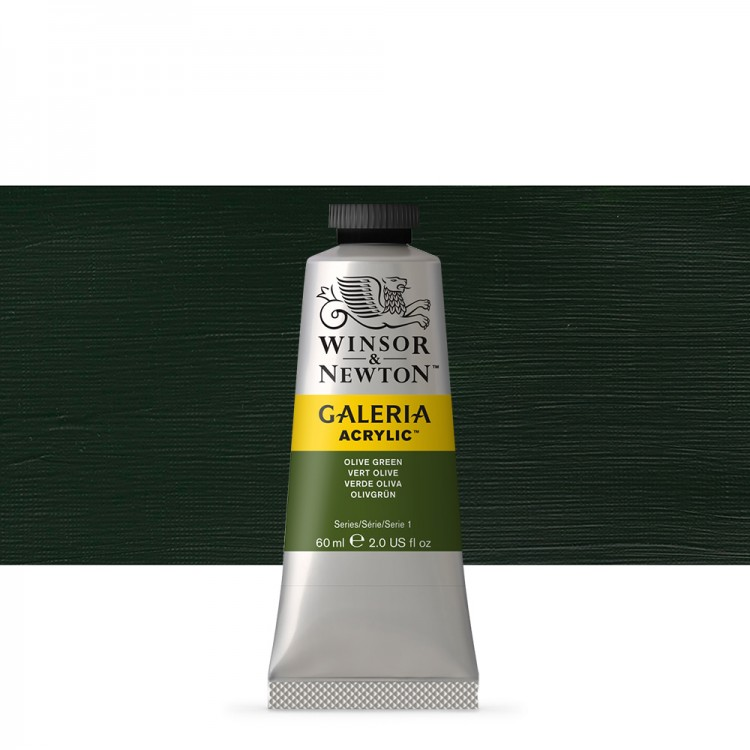 W&N : Galeria : Acrylic Paint : 60ml : Olive Green