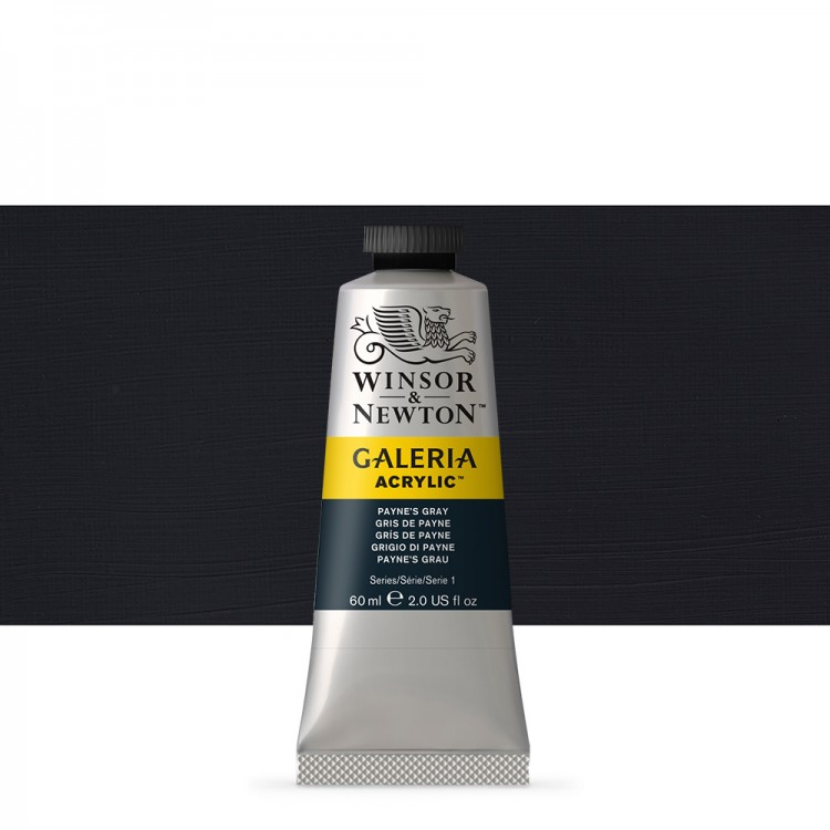 W&N : Galeria : Acrylic Paint : 60ml : Paynes Gray