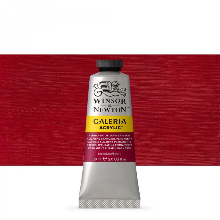 Winsor & Newton : Galeria : Acrylic Paint : 60ml : Perm Aliz Crimson