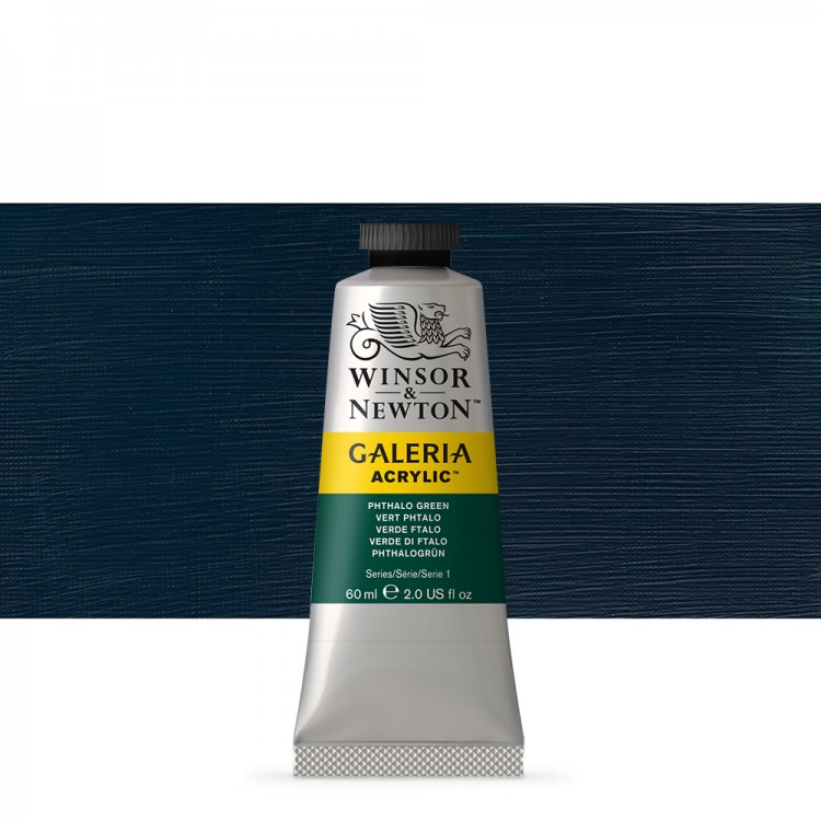 W&N : Galeria : Acrylic Paint : 60ml : Phthalo Green