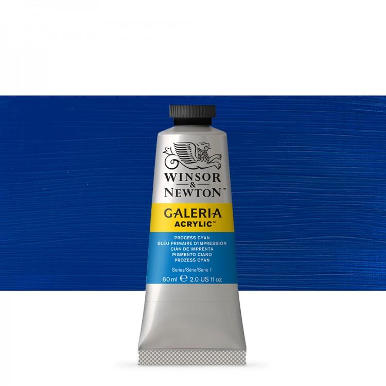 W&N : Galeria : Acrylic Paint : 60ml : Process Cyan