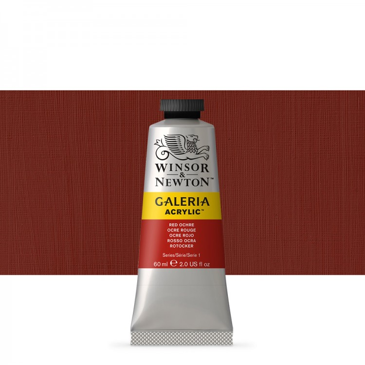 W&N : Galeria : Acrylic Paint : 60ml : Red Ochre