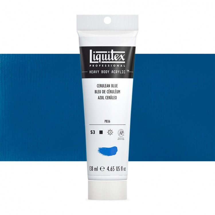 Liquitex : Professional : Heavy Body Acrylic Paint : 138ml : Cerulean Blue