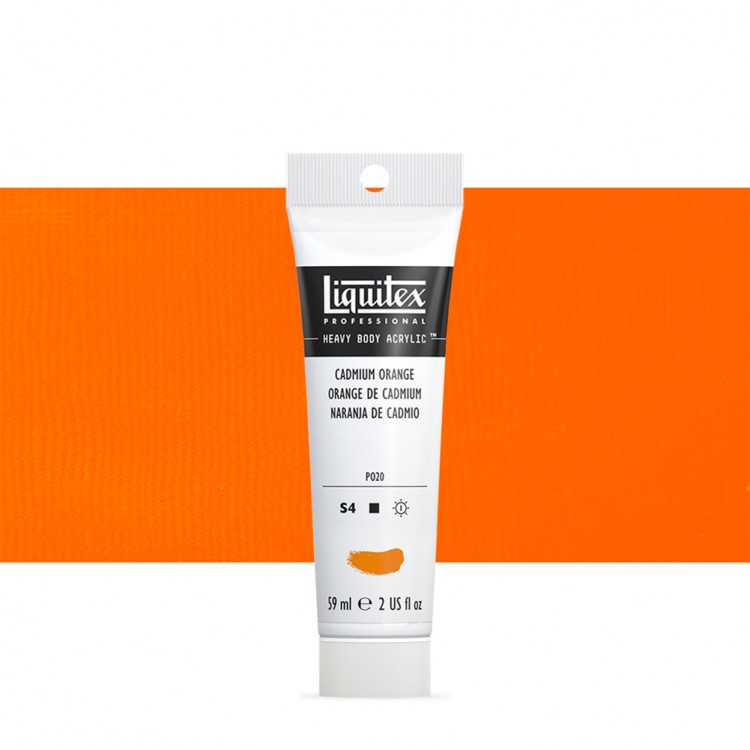 Liquitex : Professional : Heavy Body Acrylic Paint : 59ml : Cadmium Orange