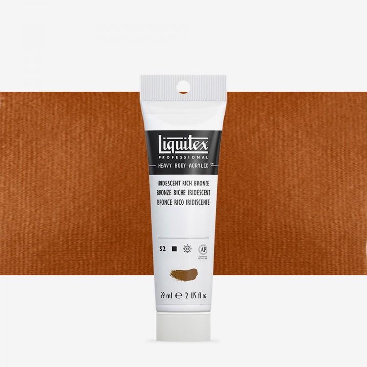 Liquitex : Professional : Heavy Body Acrylic Paint : 59ml : Iridescent Rich Bronze