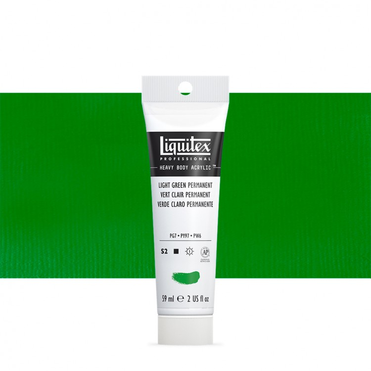 Liquitex : Professional : Heavy Body Acrylic Paint : 59ml : Permanent Light Green