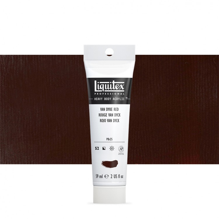Liquitex : Professional : Heavy Body Acrylic Paint : 59ml : Van Dyke Red Hue