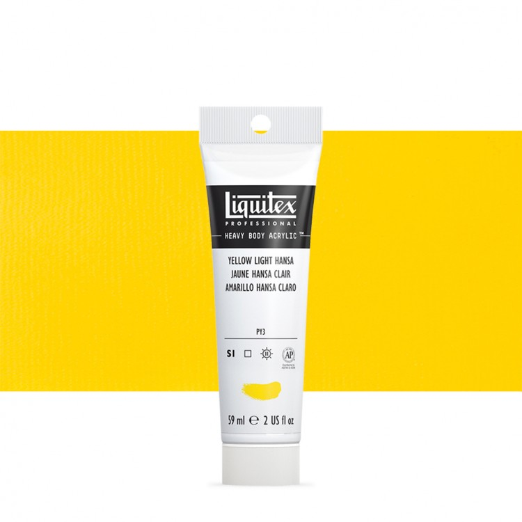 Liquitex : Professional : Heavy Body Acrylic Paint : 59ml : Yellow Light Hansa