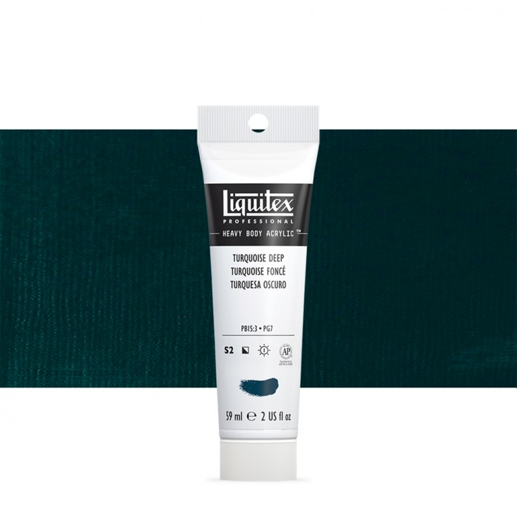 Liquitex : Professional : Heavy Body Acrylic Paint : 59ml : Turquoise Deep