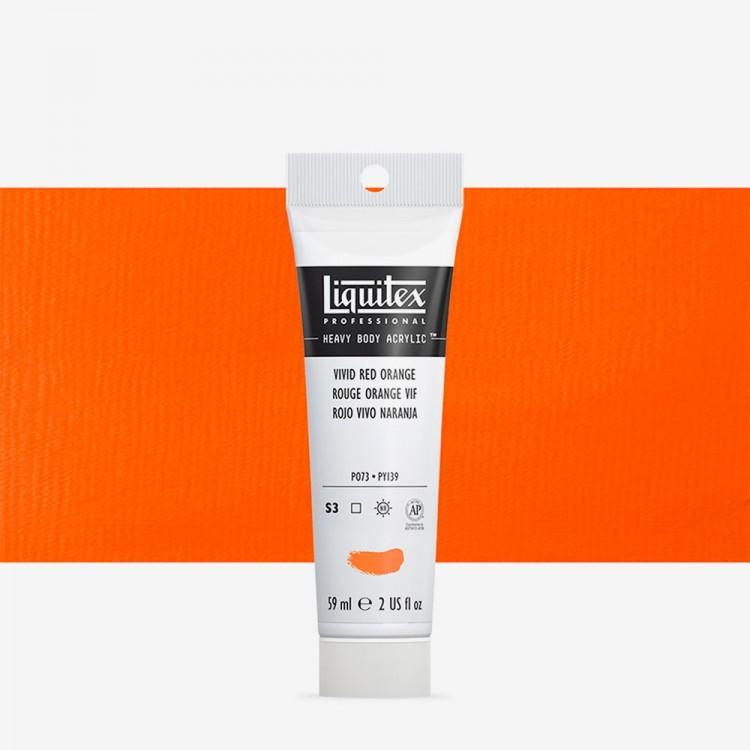 Liquitex : Professional : Heavy Body Acrylic Paint : 59ml : Vivid Red Orange