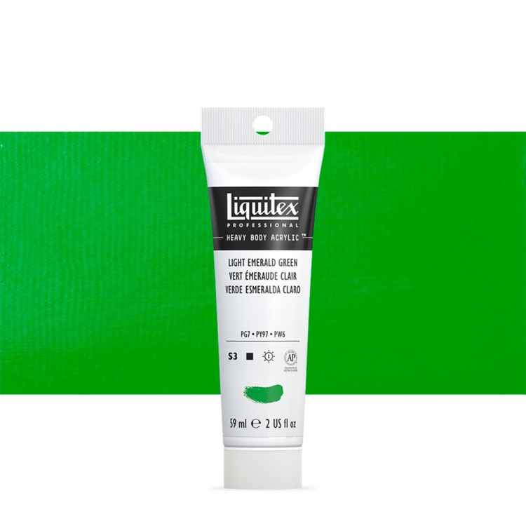 Liquitex : Professional : Heavy Body Acrylic Paint : 59ml : Light Emerald Green