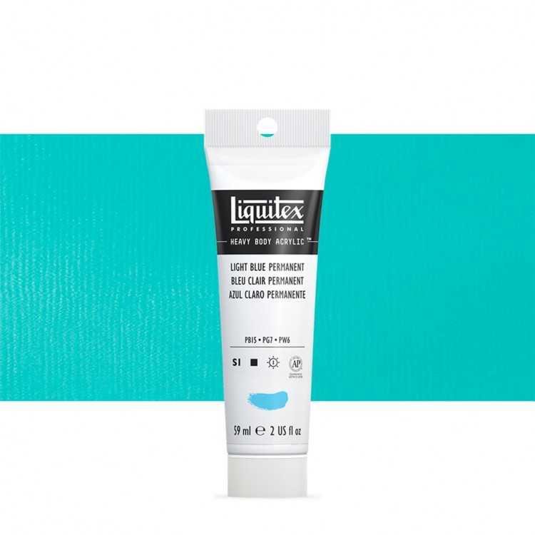 Liquitex : Professional : Heavy Body Acrylic Paint : 59ml : Permanent Light Blue