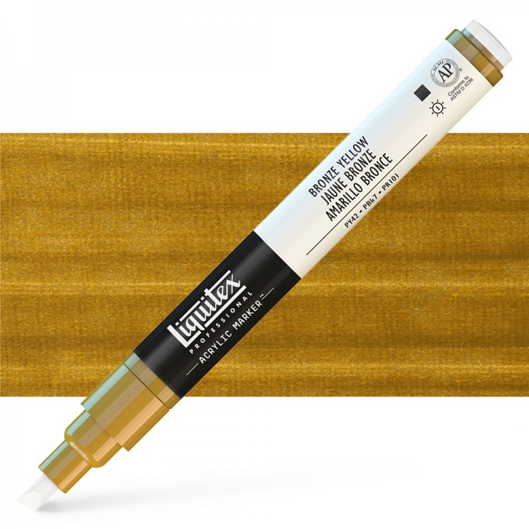 Liquitex : Professional : Marker : 2mm Fine Nib : Bronze Yellow