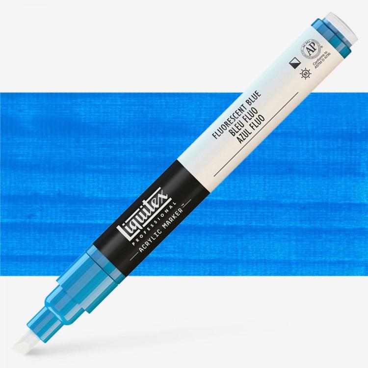 Liquitex : Professional : Marker : 2mm Fine Nib : Fluorescent Blue