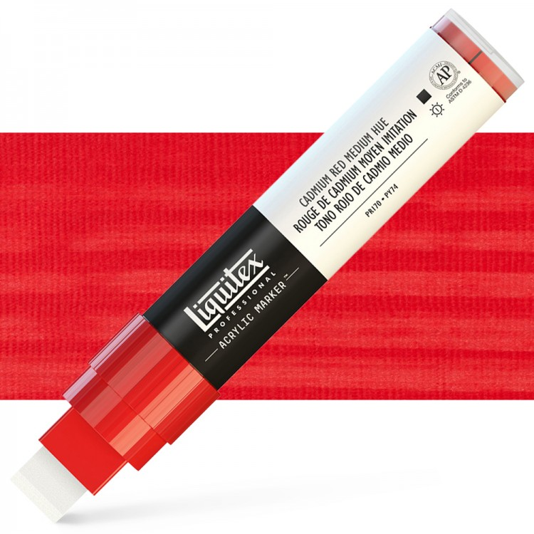 Liquitex Marker : 15mm WIDE Cadmium Red Medium Hue