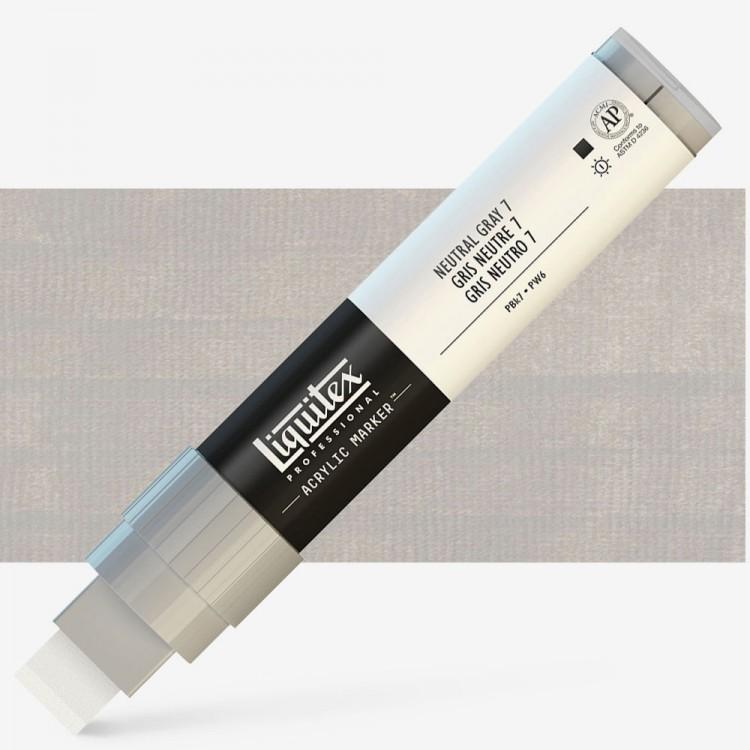 Liquitex : Professional : Marker : 15mm Wide Nib : Neutral Gray 7