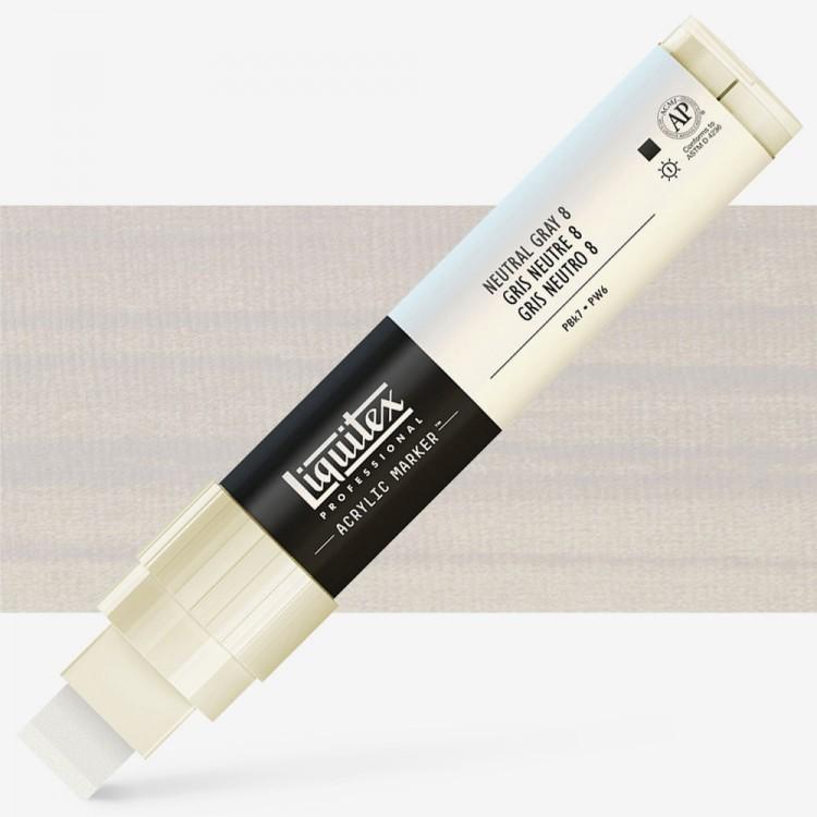 Liquitex : Professional : Marker : 15mm Wide Nib : Neutral Grey 8