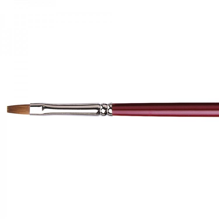 Da Vinci : Kolinsky Red Sable : Oil Brush : Series 1810 : Bright : Size 4