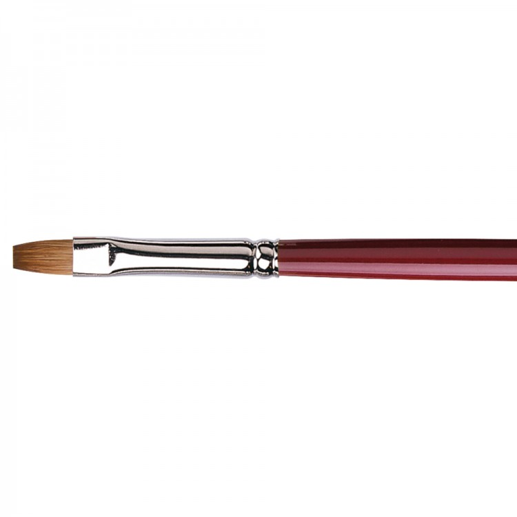 Da Vinci : Kolinsky Red Sable : Oil Brush : Series 1810 : Bright : Size 6