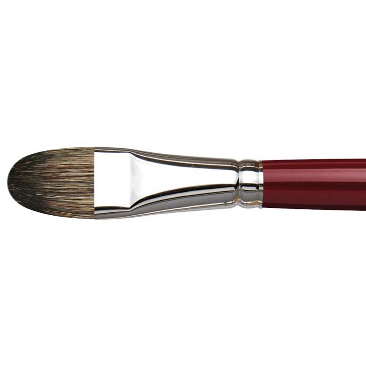 Da Vinci : Black Sable : Oil Brush : Series 1845 : Filbert : Size 20