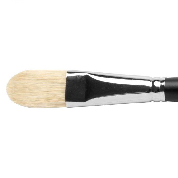 Jackson's : Shiro : Professional Hog Bristle Hair Brush : Filbert : No.12