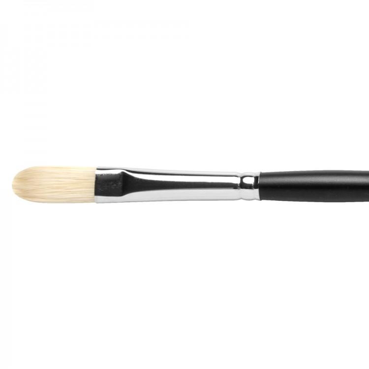 Jackson's : Shiro : Professional Hog Bristle Hair Brush : Filbert : No.6