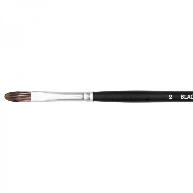 Jackson's : Black Hog Bristle Brush : Filbert : No.2