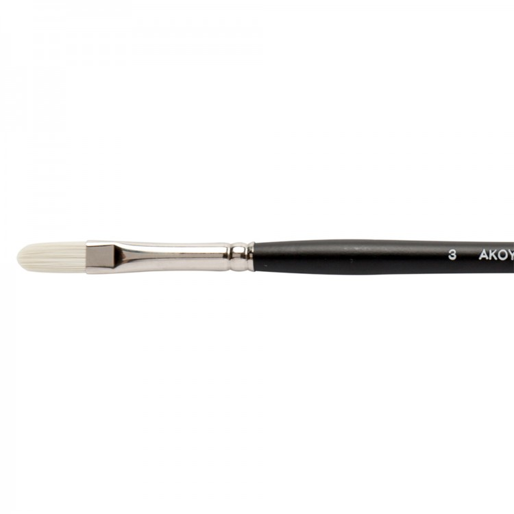 Jackson's : Akoya : White Synthetic Bristle Hair Brush : Filbert : No.3