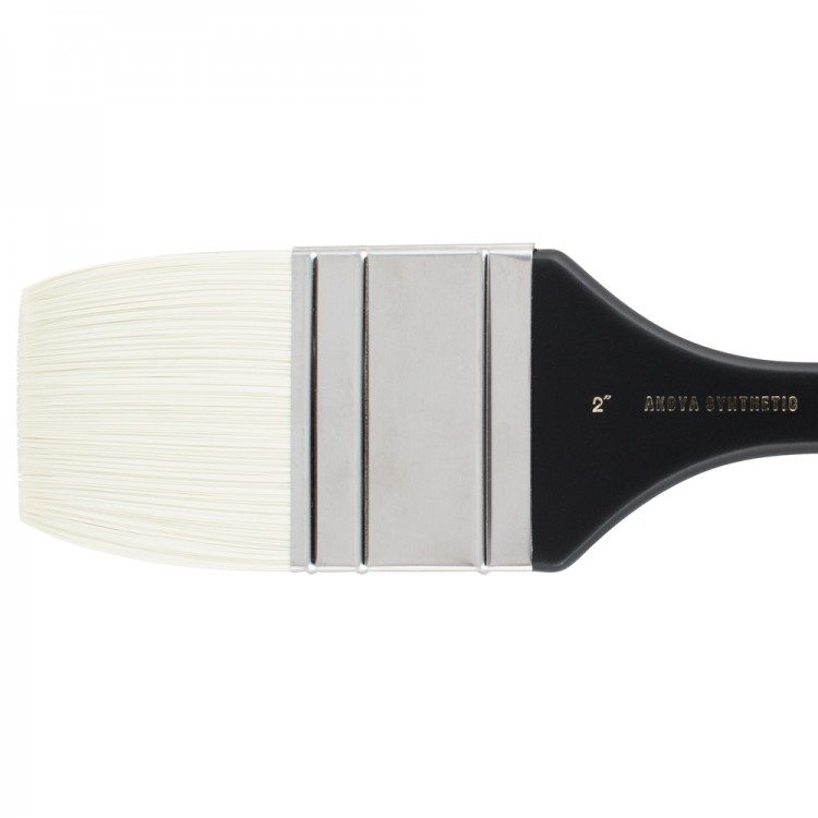 Jackson's : Akoya : White Synthetic Bristle Hair Brush : Mottler : 2in