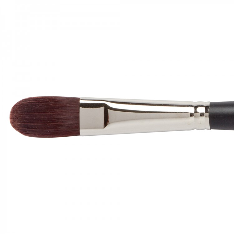 Jackson's : Shinku : Red Synthetic Bristle Hair Brush : Filbert : No.10