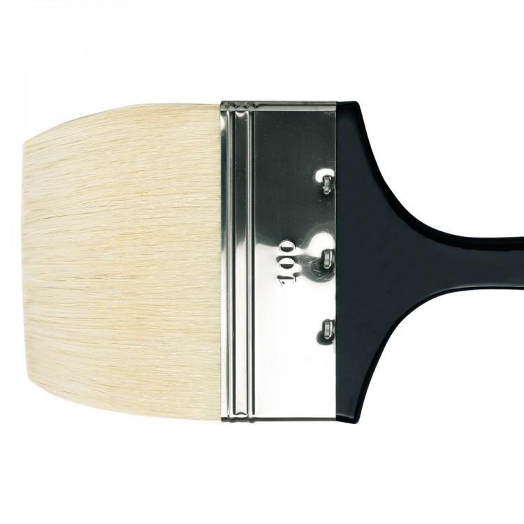Da Vinci : Long Handled Flat Bristle Brush : 390mm : Series 7055 : Size 100mm