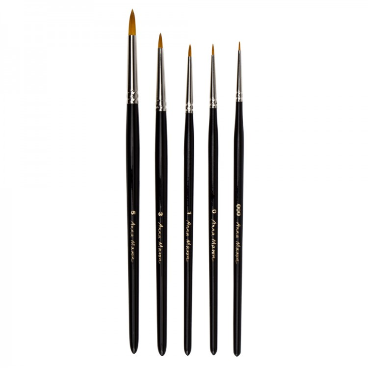 Anna Mason Synthetic Watercolour Brush Set of 5