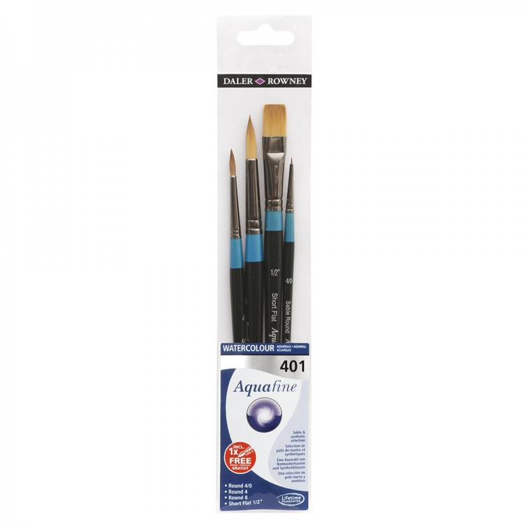 Daler Rowney : Aquafine Watercolour Brush : Wallet Set : 401