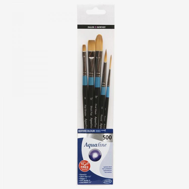 Daler Rowney : Aquafine Watercolour Brush : Wallet Set : 500