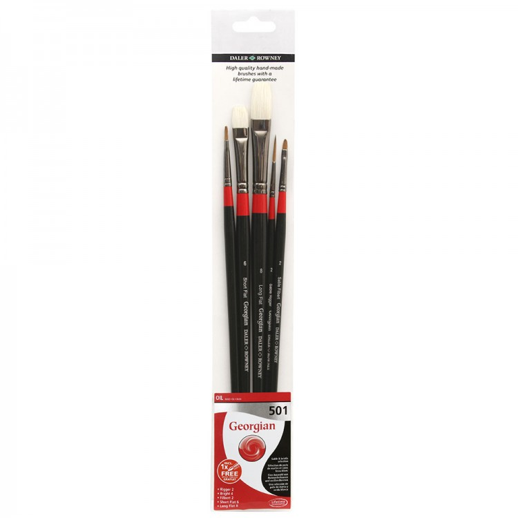 Daler Rowney : Georgian Oil Brush : Wallet Set : 501