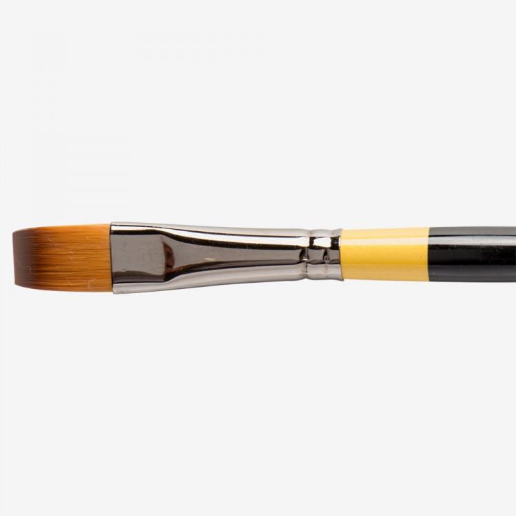 Daler Rowney : System 3 : Acrylic Brush : Sy55 Sh Short Flat : 1/2In