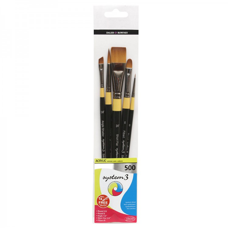 Daler Rowney : System 3 : Acrylic Paint Wallet Set : 500