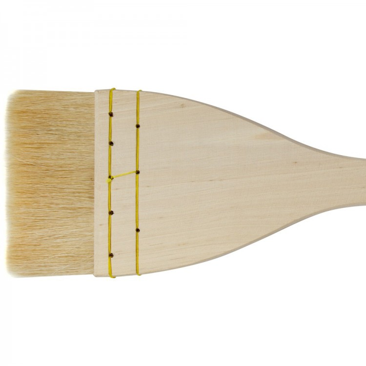 Jackson's : Artist Hake White Goat Hair Brush : Flat : 3in (75mm)